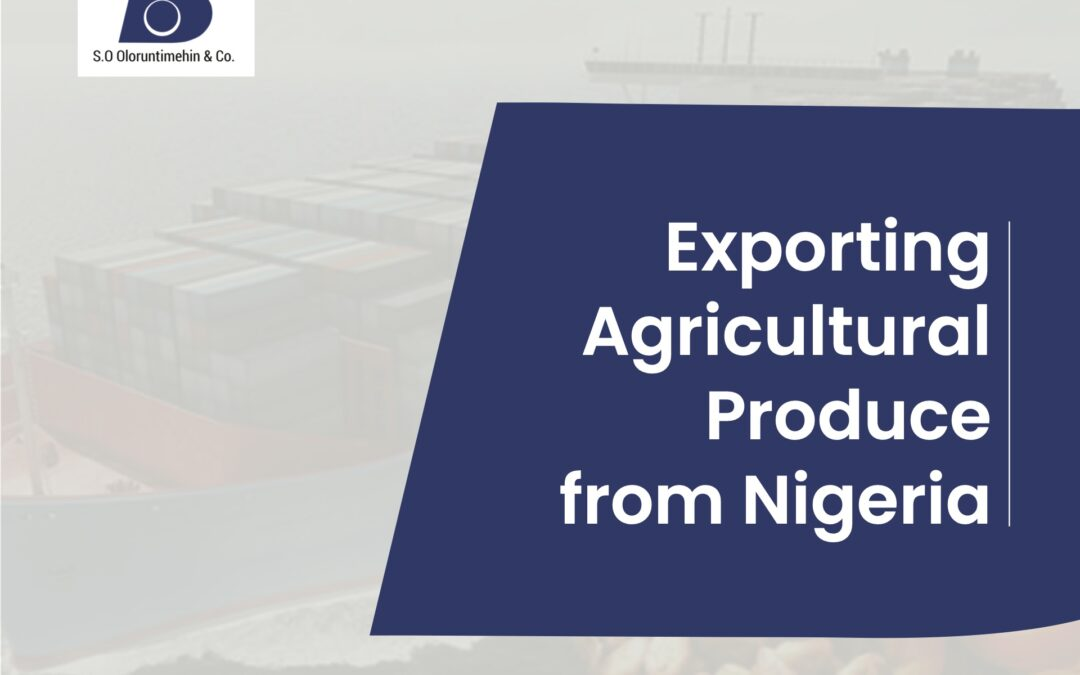 Exporting Agricultural Produce from Nigeria